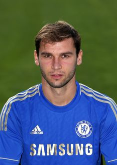 players/squad 2012 2013 season branislav ivanovic/soccer chelsea squad photocall season 2013 14