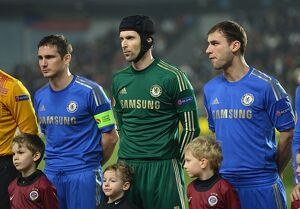 players/squad 2012 2013 season petr cech/soccer uefa europa league round 16 first